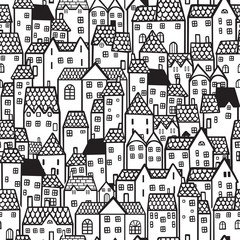Town seamless background