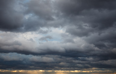 Natural background: stormy sky