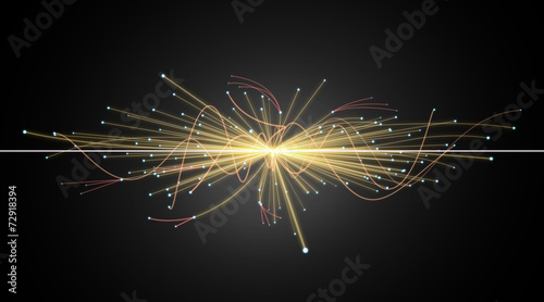 Particle Collision in LHC (Large Hadron Collider)