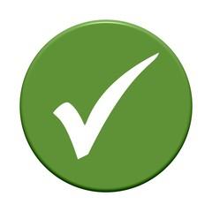 grüner Button rund: Haken
