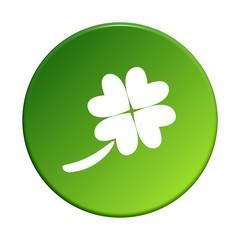 grüner runder Button: Kleeblatt