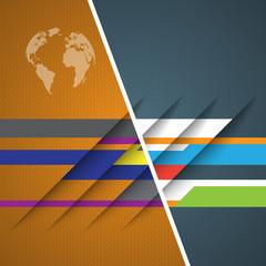 3d design with color stripes