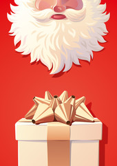 Background of Santa Claus with gift