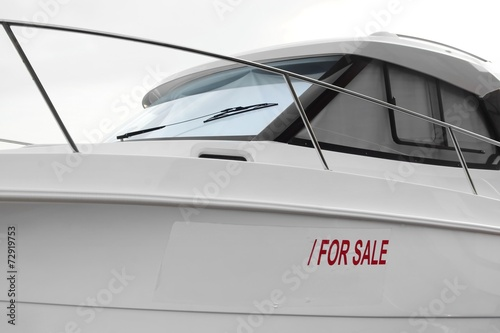canvas print picture Boat for Sale
