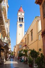 The Saint Spyridon Church on Corfu island, Greece.