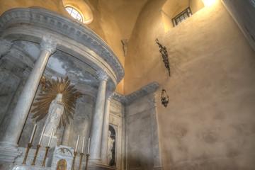 Holy Mary altar in Santa Maria cathedral in Alghero