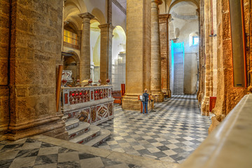 Interior view of Alghero Duomo