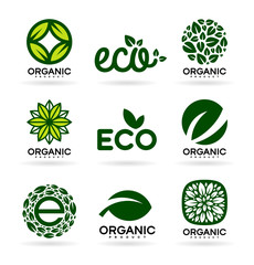 Icons of Organic Products and Ecology. Eco Icons (15)