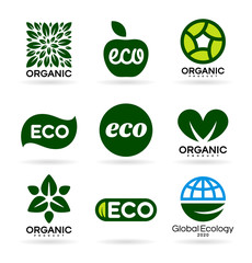 Icons of Organic Products and Ecology. Eco Icons (14)