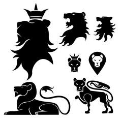 Lion set heraldry