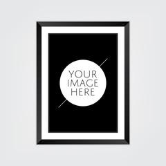 Blank black frame (portrait) with mount
