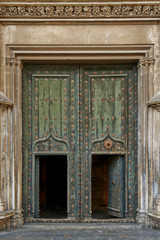Cathedral's door. Girona, Spain