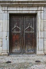 Church's door. Girona, Spain