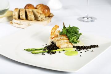 Gourmet dinner on the table