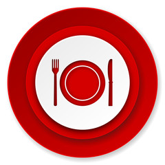 eat icon, restaurant symbol