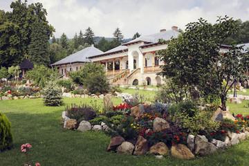 garden in Varatec Monastery, Moldavia, Romania