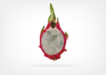Low Poly Pitaya fruit