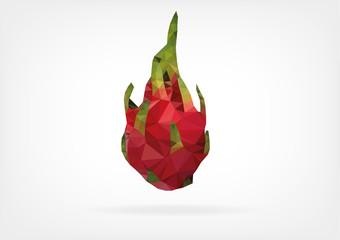 Low Poly Pitaya fruit