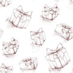 Gift box seamless pattern