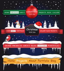 Web site Christmas elements
