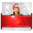 canvas print picture - Button, Icon, Weihnachten
