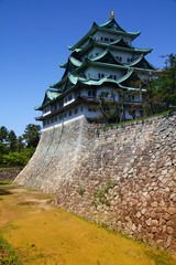 Nagoya castle. Filtered color tone.