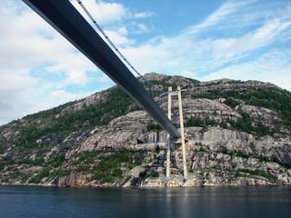 Bridge via fjord