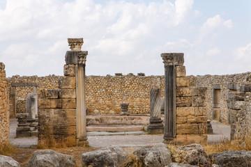 Romeinse nederzetting Volubillis in Marokko