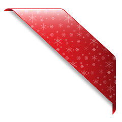 SNOWFLAKE banner (red button icon label stamp)