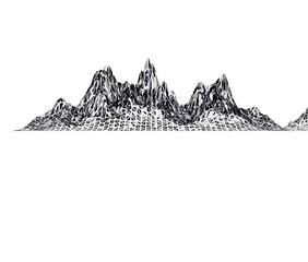 デジタルの山の背景