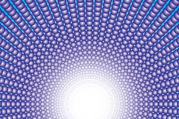 背景素材壁紙(多数の小球体と光の放射)