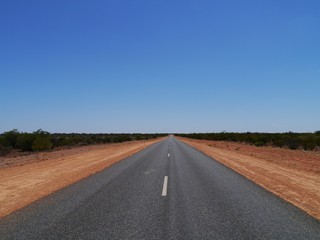 The Stuart Highway from Adelaide to Darwin