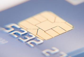 Detail shot of a standard credit card
