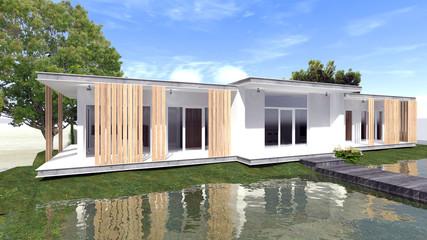 3d modern wohnen - Haus