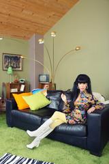 Pretty Woman on Sofa