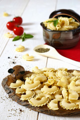 ingredients: Uncooked pasta, tomatoes and provencale herb