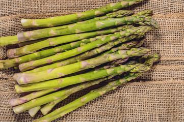 Green raw asparagus