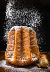 Pandoro, christmas cake.Traditional, typical italian cake.