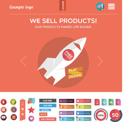 Web template and web graphics