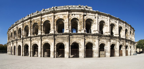 France. Roman amphitheatre of Nîmes