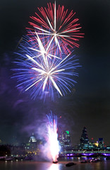 Lord Mayors Show Fireworks in London