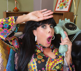 Relieved Lady on Telephone