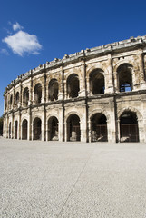 France. Exterior of the Arena of Nîmes
