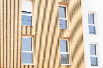 wooden facade of a house