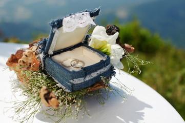 Свадебная коробочка с кольцами. Wedding box.