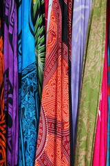 Textiles choice - colorful scarves
