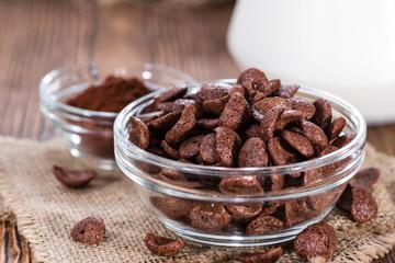 Chocolate cornklakes with milk