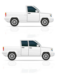 car pick-up vector illustration