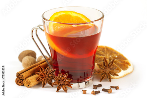 Fotobehang Thee aromatic drink