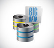 big data servers illustration design